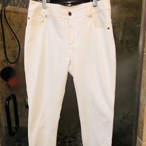 Fitted Bright White Pants